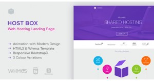 Hostbox WHMCS и HTML5 Landing Page