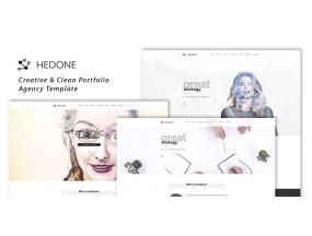 Hedone - Creative & Clean Портфолио / Шаблон агентства
