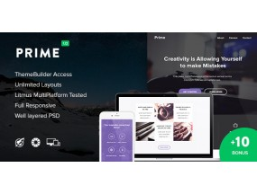 Prime + 10 Notify Templates & Tembuilder HTML-тема