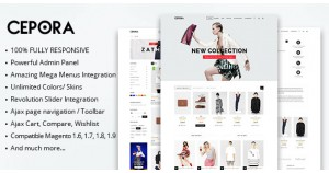 MT Cepora fashion responsive magento theme тема Magento