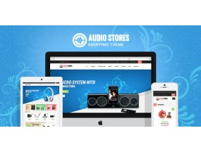 Ves Audio Store Отзывчивая тема Magento