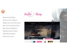 Smileshop - Многоцелевая отзывчивая тема Magento