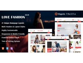 Love Fashion - отзывчивый магазин моды Magento 2 и 1 Theme