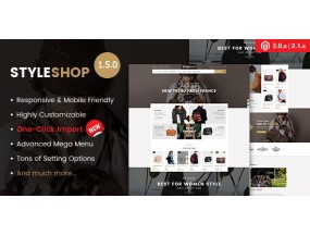 Styleshop - Отзывчивая многоцелевая тема Magento 2.2.x
