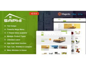Saphi - Отзывчивый Magento 2 и 1.9 Тема