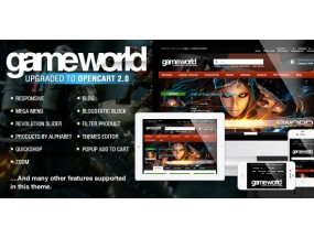 Тема OpenCart - GameWorld