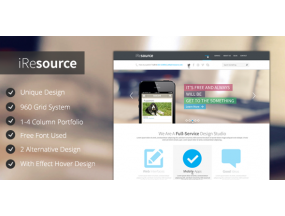 iResources - Creative One Page portfolio Тема PSD