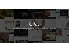 Delice - Power Multi Purpose Food & Restaurant Шаблон psd для электронной коммерции