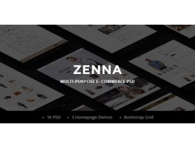 Zenna | Шаблон для фотомонтажа с несколькими концепциями E-commerce