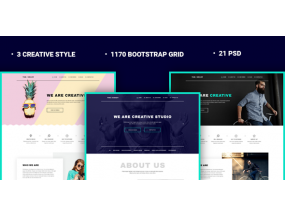 Шаблон Crazy - Creative Agency PSD