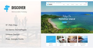 DISCOVER - Пляж, лес, сельская местность Hotel & Resort PSD Template
