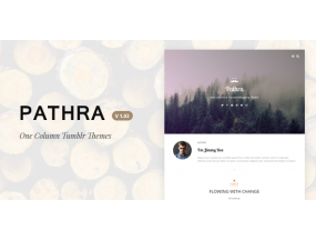 Pathra | Тема с одной колонкой Focused Blogging