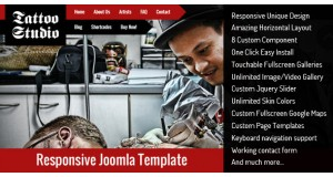 Tattoo Studio - Responsive Joomla Template