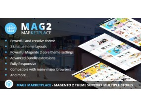 Mag2 Marketplace - Magento 2 Theme Поддержка нескольких магазинов Marketplace - Magento 2 Theme Support Multiple Stores