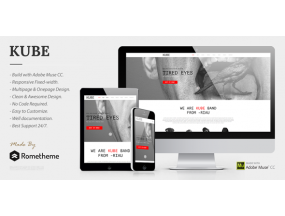 Kube - Музыкант, DJ, Band, Music Muse Template