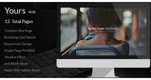 Ваш - Creative Onepage Adobe Muse Template