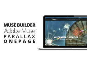 Muse Builder | Параллакс OnePage Muse Template