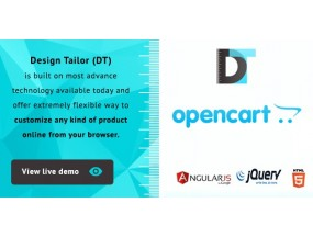 Design Tailor - Пользовательский плагин для дизайнера продуктов - Custom Product Designer Plugin Opencart