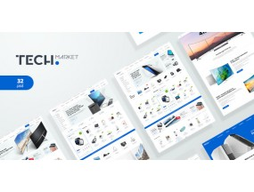 TechMarket - окончательный шаблон Shopify - Ultimate Shopify Template
