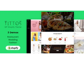 Титтос | Food Fashion, Свадебная тема | Wedding Shopify Theme Tittos