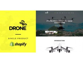 Drone - единый продукт Shopify Theme - Single Product