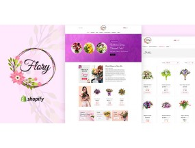 Флори | Флорист Букет и бутик подарков Shopify Theme Flory | Florist Bouquet and Boutique Gift