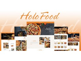HoloFood - Фастфуд и ресторан Shopify Theme - Fast Food & Restaurant