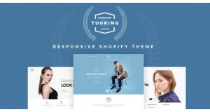 Tuoring - отзывчивая мода, футболка, одежда (готовые разделы) - Responsive Fashion, Tee, Clothing Shopify Theme (Sections Ready)