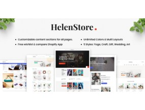 Хелен - Искусство и фотография Shopify Theme - Helen  Art & Photography Shopify Theme