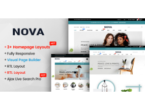 Нова - Многоцелевой Drag & Drop Shopify Адаптивная Тема Nova - Multipurpose Drag & Drop Shopify Responsive Theme