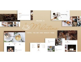 Милатино - кофе, чай и пирожные Milatino - Coffee & Tea and Cake Shopify Theme