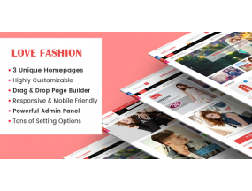 LoveFashion - отзывчивые многоцелевые разделы - Responsive Multipurpose Sections Drag & Drop Builder Shopify Theme
