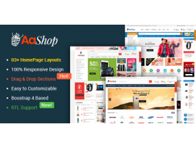 AaShop - Responsive & Multipurpose Sectioned Bootstrap 4 Shopify Theme
