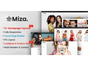 Miza - многоцелевая одежда и мода, тема с разделами - Multipurpose Clothing And Fashion Bootstrap 4 Shopify Theme With Sections