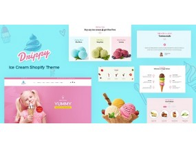 Drippy - Cake Shop, Магазин мороженого Shopify Theme Ice Cream Store