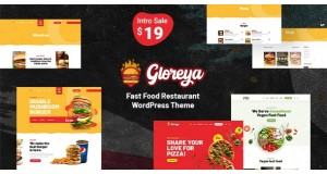 Gloreya - тема быстрого питания WordPress - Fast Food WordPress Theme