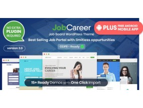 JobCareer | Вакансия Отзывчивый Тема WordPress | Job Board Responsive WordPress Theme