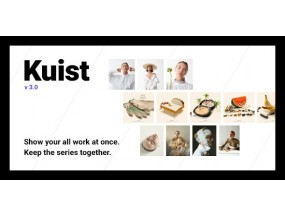 Kuist - портфолио WordPress для серии фотографий - Photography Series Portfolio WordPress Theme