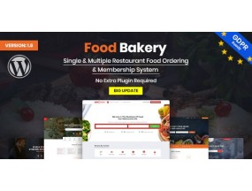 FoodBakery | Доставка еды Ресторан Каталог | Food Delivery Restaurant Directory WordPress Theme