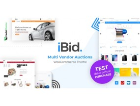 iBid - Аукцион мультипродавца Тема WooCommerce - Multi Vendor Auctions WooCommerce Theme