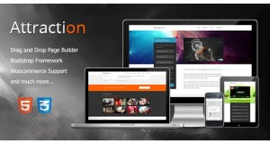 Аттракцион Адаптивная тема целевой страницы WordPress Attraction Responsive WordPress Landing Page Theme