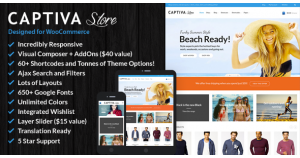 Captiva - отзывчивая тема WooCommerce WordPress