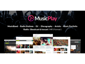 MusicPlay - Музыка и DJ Отзывчивая тема WordPress