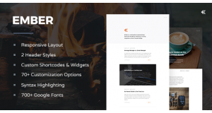 Ember v1.2.0 - тема WordPress