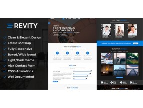 Revity - OnePage Parallax - адаптивная тема WordPress