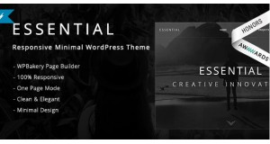 Essential - гибкая минимальная тема WordPress - Responsive Minimal WordPress Theme