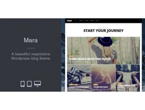 Мара - Красивая фотография WordPress Theme Theme Mara - Beautiful Photo WordPress Blog Theme